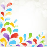 Abstract corner floral background Stock Photos