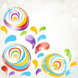 Abstract corner floral background Royalty Free Stock Image