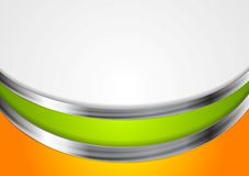 Abstract corporate background with metal waves. Vector illustration Royalty Free Stock Photography