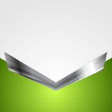 Abstract corporate background with metallic arrow Stock Photos
