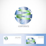 Abstract corporate blue green sphere logo Royalty Free Stock Image
