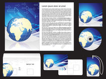 Abstract corporate brochure Stock Image