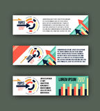 Abstract corporate business banner template, Colorful design header for , background   website Royalty Free Stock Image