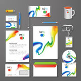 Abstract Corporate Business identity Template Layout. Pen, CD, Cup, Letter, Folder, Business cards. Vector company Stock Photo
