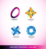 Abstract corporate business logo icon set Stock Images