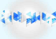 Abstract corporate geometric tech background Stock Photos