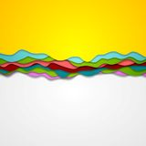 Abstract corporate gradient waves background Royalty Free Stock Images