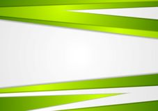Abstract corporate green stripes vector background Stock Photography