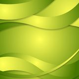 Abstract corporate green waves background Stock Image