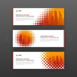 Abstract corporate horizontal web banners template Stock Photo