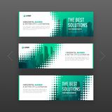 Abstract corporate horizontal web banner template Stock Photo