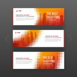 Abstract corporate horizontal web banners set Royalty Free Stock Photography