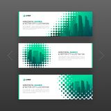 Abstract corporate horizontal web banners set Stock Image