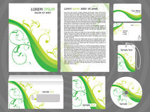 Abstract corporate id. Abstract print design templates vector illustration Stock Image