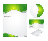 Abstract corporate id template Royalty Free Stock Photo
