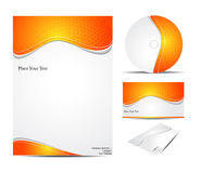 Abstract corporate id template Royalty Free Stock Image