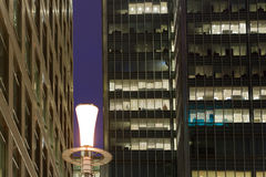 Abstract corporate scene. Abstract corporate night scene with office buildings Stock Image