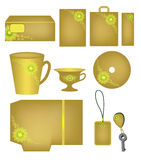 Abstract corporate style with ornaments in olive tones Stock Photo