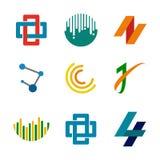 Abstract Corporate Symbols Design Set royalty free illustration
