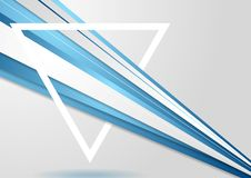 Abstract corporate tech background and triangle Stock Photos