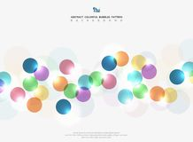 Abstract corporate tone colorful circle bubble with light glitters background. You can use for ad, poster, web, artwork, page, vector illustration