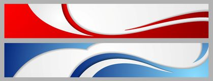 Abstract corporate waves bright banners Stock Image