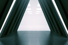 Abstract corridor interior Stock Images
