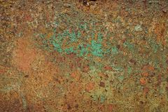 Abstract corroded colorful rusty metal background. Stock Photo