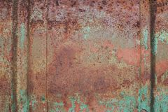 Abstract corroded colorful rusty metal background. Royalty Free Stock Photography