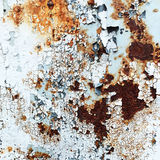 Abstract corroded colorful wallpaper grunge background iron rusty artistic wall peeling paint. Royalty Free Stock Image