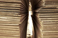 Free Abstract Corrugated Paper Stock Photos - 96068203