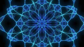Abstract cosmic chaos looping animated background. Seamless symmetric kaleidoscope backdrop from Liquid golden hypnotic rays. VJ s