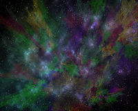 Abstract cosmic cloud,   stars of a planet and galaxy.  Fantasy Royalty Free Stock Images