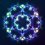 Abstract cosmic fractal vector snowflake Stock Photography