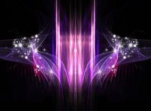 Abstract Cosmic Holiday background. With stars and sparkles Royalty Free Stock Images