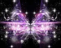 Abstract Cosmic Holiday background Stock Image