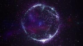 Abstract Cosmic Planet Nebula Starfield stock footage