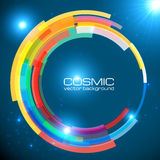 Abstract cosmic shining colorful vector circle Stock Photo