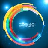 Abstract cosmic shining colorful vector circle Stock Photo