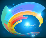 Abstract cosmic shining colorful vector circle Royalty Free Stock Photo