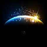 Abstract cosmic sunrise Royalty Free Stock Photography