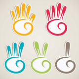 Abstract counting hand Stock Photos