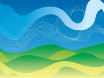 Abstract country stock illustration