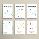 Abstract cover background of dotted lines and balls.  Royalty Free Illustration