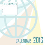 Abstract cover of calendar of New Year 2016 illustration Royalty Free Stock Photo