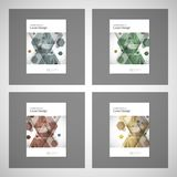 Abstract cover design, business brochure template layout, annual report, booklet or book in A4. Hexagonal geometric. Creative shapes Stock Photo