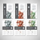 Abstract cover design, business brochure template layout, annual report, booklet or book in A4. Hexagonal geometric. Creative shapes Royalty Free Stock Photo