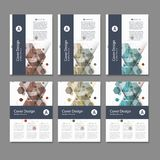Abstract cover design, business brochure template layout, annual report, booklet or book in A4. Hexagonal geometric. Creative shapes Stock Photography