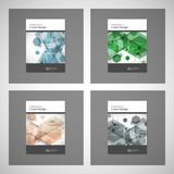 Abstract cover design, business brochure template layout, annual report, booklet or book in A4. Hexagonal geometric. Creative shapes Royalty Free Stock Image
