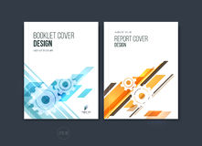 Abstract cover design, business brochure template layout, report Stock Image